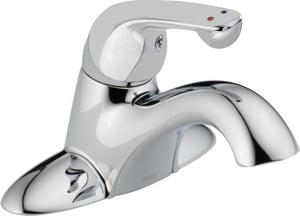 Delta Faucet 0.35 gpm Single Handle Classic Center Set Lavatory Faucet D501LFTGMHDF