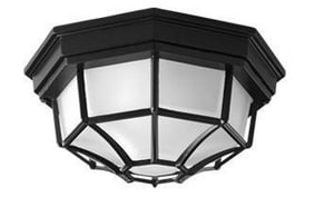 Homestyle Lighting 60 W 2-Light Medium Outdoor Semi-Flush Mount Ceiling Fixture HHS71011