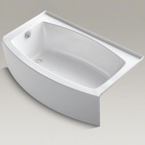 Kohler Expanse® Acrylic 3-Wall Alcove Rectangle Bathtub with Right Drain K1118-RA