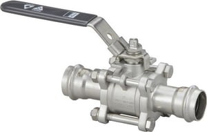 Viega Model 4370.8 3-Piece 316 Stainless Steel Press Ball Valve V8513