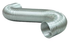 Deflecto 6 in. x 8 ft. Semi-Flexible Aluminum Duct DA0684
