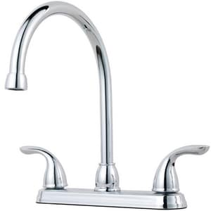 Pfister 3-Hole Kitchen Faucet with Double Lever Handle in Polished Chrome PG1362000