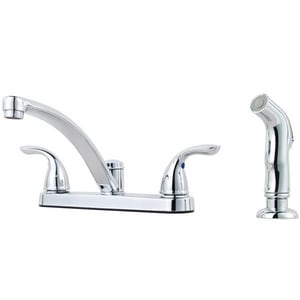 Pfister 4-Hole Kitchen Faucet with Double Lever Handle PG135800