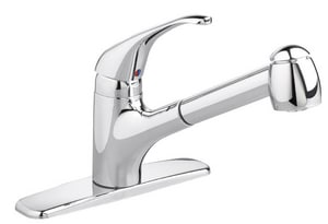 American Standard Relian+® 1-Hole Water Conscious Kitchen Faucet with Single Lever Handle and Pull-Out Spray A4205104F15