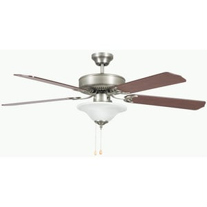 Sunset Lighting and Fans Heritage Square 52 in. Ceiling Fan with 60 W Light Kit S52HES5E