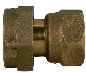 A.Y. McDonald Meter Swivel x FNPT Brass Straight Coupling M74637