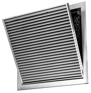 PROSELECT® 20 in. Aluminum T-Bar Filter Grille in White with Horizontal Blade PSAH45FTB20