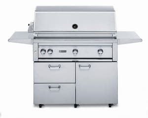 Lynx 42 in. 3-Burner Outdoor Freestanding Sear Grill in Stainless Steel LL42PSFR2