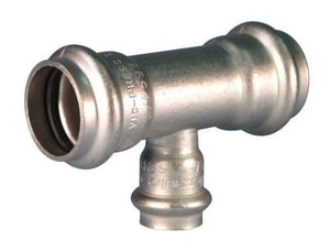 Victaulic Style P593 1 x 1 x 1/2 in. Press Fit 304L Stainless Steel Reducing Tee VFK46593XH5