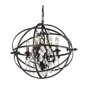 Troy-CSL Lighting Byron 20-1/8 in. 60 W 4-Light Candelabra Pendant in Vintage Bronze TF2995