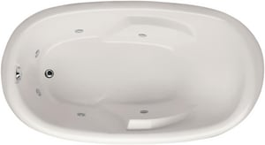Hydro Systems Kimberly 71-1/2 x 40 in. Oval Whirlpool Bathtub with Left Hand Drain HKIM7240AWP