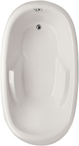 Hydro Systems Kimberly 66 x 40 in. 80 gal Acrylic and Reinforced Fiberglass Oval Drop-In Bathtub with Left Hand Drain HKIM6640ATO