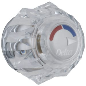 Delta Faucet Memoirs® Large Clear Single Handle Knob DH71