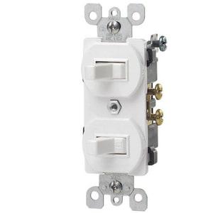 Leviton 1-Pole Duplex Switch L52242