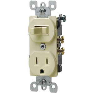 Leviton 1-Pole Switch and Grounded Receptacle L5225
