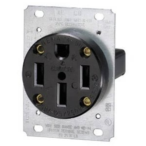 Leviton 50A 4-Wire Flush Mounting Receptacle in Black L279