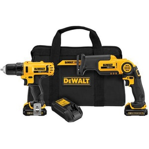 DEWALT 12 V Max Drill/Drive/Reciprocating Saw Kit DDCK212S2