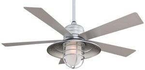 Minka Rainman™ 5-Blade Ceiling Fan with Halogen Light MF582