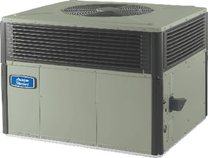 American Standard HVAC 4YCX3 Series 13 SEER R-410A Single-Stage Spine Fin Convertible Commercial LP or Natural Gas Packaged Gas/Electric Unit A4YCX3A4075B