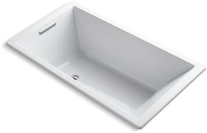 Kohler Underscore® 66 x 36 in. Drop-In Bathtub in White K1173-VB-0