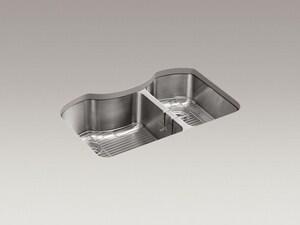 Kohler Octave™ 32 x 20-1/4 in. Under-Mount Large/Medium Double Bowl Kitchen Sink K3845-NA