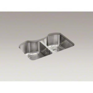 Kohler Octave™ 32 x 20-1/4 in. Double Bowl Undermount Sink No Hole K3843-NA