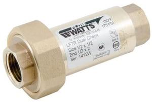 Watts FPT Dual Check Backflow Preventer WLF7RU22