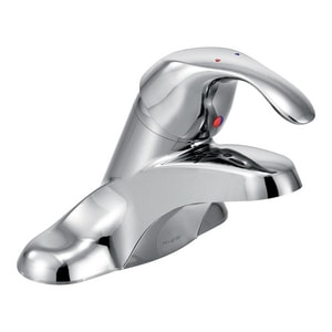 Moen M-Bition™ 2-Hole Low Arc Centerset Lavatory Faucet with Single Lever Handle in Polished Chrome M8439