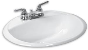 American Standard Ohio 20 x 17 in. Oval Countertop Sink A043900US020