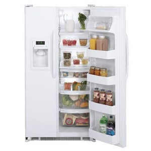 General Electric Appliances 25.3 CF Side-by-Side Refrigerator With Dispenser GGSH25JGD