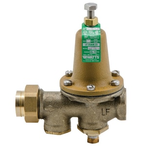 Watts 6-1/2 in. 300 psi NPT Female Thread Union Copper Alloy Pressure Regulator Valve WLF25AUBGZ3