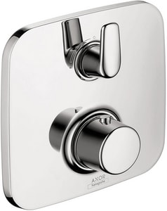 AXOR Bouroullec 7 gpm Thermostatic Valve Trim with Integrated Diverter, Volume Control and Double Lever Handle in Polished Chrome AX19706001