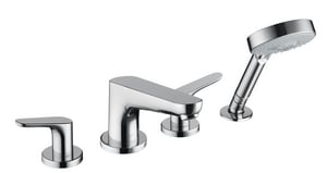 Hansgrohe Focus 4-Hole Brass Roman Tub Trim with Double Lever Handle H04366