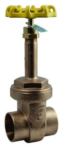 Apollo Conbraco 125# Bronze Solder Rising Valve Stem Screw-In Bonnet Gate Valve A30LF0801