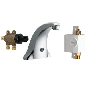 Chicago Faucet Sink Faucet with Dual Beam Infrared Sensor in Polished Chrome C116976AB1
