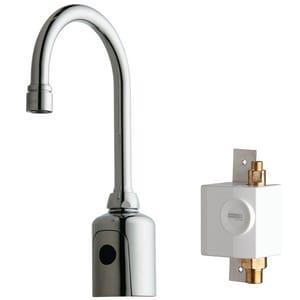 Chicago Faucet 1-Hole Gooseneck Faucet in Polished Chrome C116953AB1