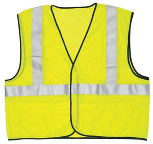River City Mesh Vest with Stripe in Fluorescent Lime RVCL2ML