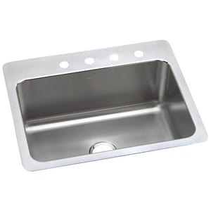 Elkay Gourmet® 1-Bowl Topmount and Undermount Kitchen Sink with Center Drain EDLSR272210