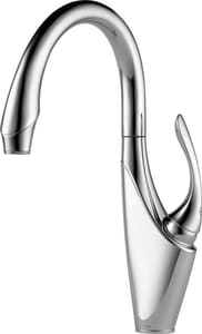 Brizo Vuelo™ 4-Hole Waterfall Kitchen Faucet with Single Lever Handle D61055LF