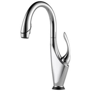 Brizo Vuelo® 1.8 gpm 1-Hole Pull-Down Kitchen Faucet with Single Lever Handle and On/Off Touch Activation D64355LF