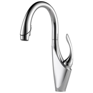 Brizo Vuelo™ 9-3/4 in. Single Lever Handle Pull-Down Kitchen Faucet D63055LF