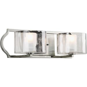 Progress Lighting Caress 2-Light 60 W Bracket in Polished Nickel PP3076104WB