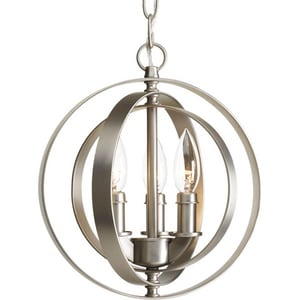 Progress Lighting Equinox 3 Light 60W Candelabra Pendant PP51421