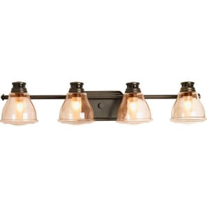 Progress Lighting Academy 30-1/4 in. 35W 4-Light Bath Light in Antique Bronze PP281320WB