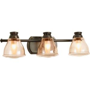 Halogen Vanity Light Bulbs : Progress Lighting Academy 3 Light 35W Halogen Vanity Light Fixture Brushed Nickel - P2812-20WB ...
