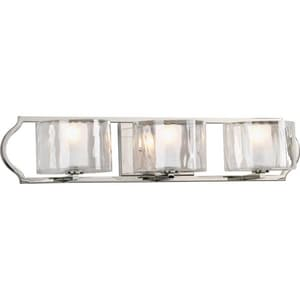 Progress Lighting Caress 3 Light 60W Candelabra Vanity Light Fixture PP30771WB