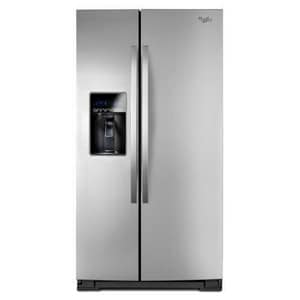 Whirlpool 35-7/16 in. 25.6 cf Side-By-Side Refrigerator with Tap Touch Control WWRS537SIA