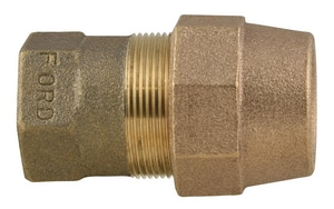Ford Meter Box FIP x PEP Brass Straight Coupling FC16GNL