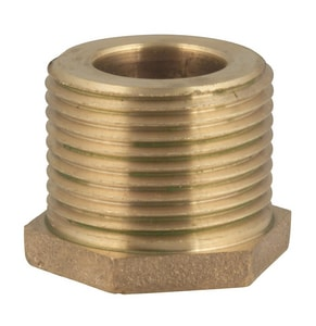 Ford Meter Box FIP x Meter Thread Brass Straight Coupling FBBIM66NL