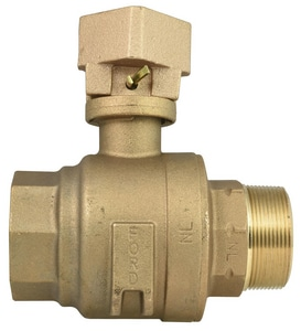 Ford Meter Box 2 in. MIP x FIP Water Service Brass Ball Valve Curb Stop FB81777QT67NL
